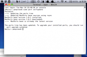 Mac Ports instalace update